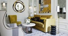 Hotel Sofitel Paris Le Faubourg: comtemporary furniture with a bold colour touch to create an amazing bespoke project. Beautiful Interior Design, Best Interior, Luxury Interior, Interior Architecture, Modern Interior, Living Room Sets, Home Living Room, Contemporary Home Furniture, Living Room Inspiration