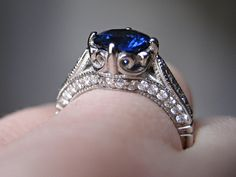 3. Sapphire Engagement Ring [Round Cut / Mixed Cut / Old European Cut Stone]