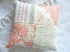 Vintage Fabric Patchwork Pincushion