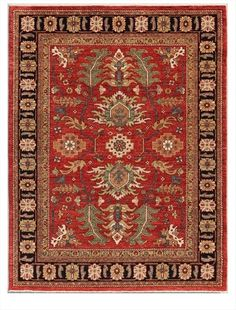 """Using only long staple hand-spun Ghazni wool from Afghanistan, and vegetable dye's, Art Collections 'Millennium' rugs focus on 19th century Persian Village patterns! 5'2""""x 6'10"""""""
