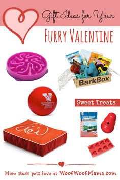 Pet gift ideas for Valentine's Day. I really want one of these heart shaped molds - so cute for homemade dog treats!