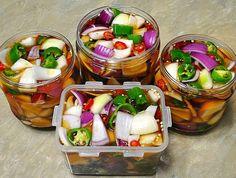 거져 만들어지는 시원한 양파짱아치 Spicy Recipes, Asian Recipes, Healthy Recipes, K Food, Food Menu, Korean Food Side Dishes, Easy Cooking, Cooking Recipes, Healthy Dishes
