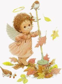 Ruth Morehead Graphics | Art ~ Ruth Morehead / fall garden angel