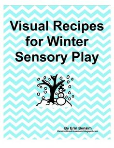 Sensory ideas with visual recipes