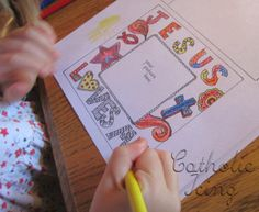 Jesus Loves Me- Bible Craft for Kids. Make into a frame using an old CD box.