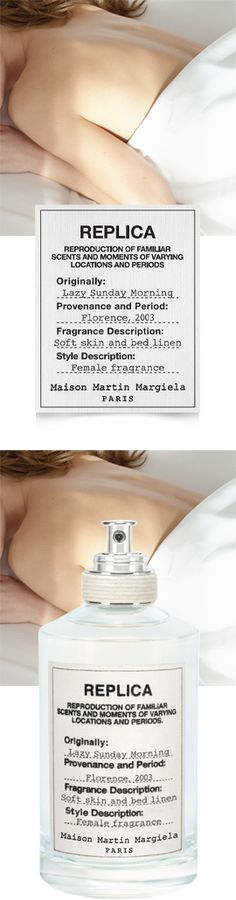 Maison Martin Margiela Fragrances. This floral fragrance combines notes of lily of the valley, patchouli, iris, and white musk to evoke a familiar but forgotten moment—a sun-drenched morning of relaxation. Aldehydes, Pear, Lily of the Valley, Iris, Rose Absolue, Orange Flower, White Musk, Indian Patchouli Oil, Ambrette Seeds Absolute. Warm. Clean. Peaceful.