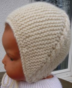 tricot layette bonnet