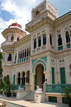 UNESCO World Heritage Site ~ Palacio del Valle in the historic center of Cienfuegos, Cuba (an architectural example of 19th century Spanish Enlightenment ideas of urban planning and hygiene)