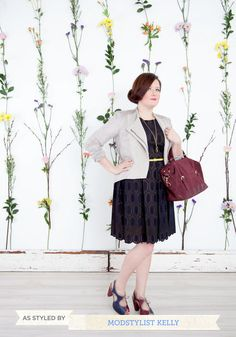 Take a tip from the ModStylists and pair your lace dress with a blazer for a look that wows at work.