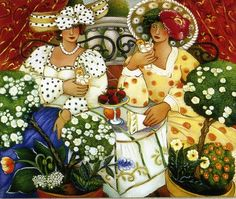 I love the paintings of Linda Carter Holman.  This is one of my favorites.