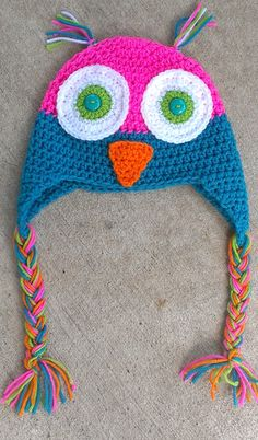 What a Hoot Crochet Hat by yodera on Etsy, $16.00