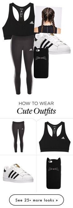 """""""Workout Outfit"""" by brookekdenn on Polyvore featuring adidas"""