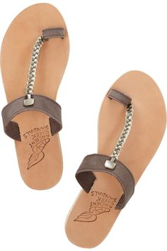 Ancient Greek Sandals - Melpomeni braided leather sandals