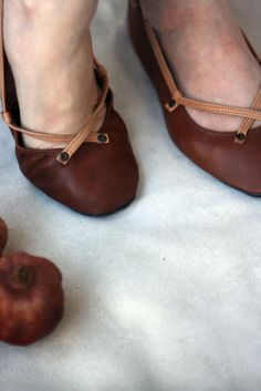 The Pomegranate Handmade Leather ballet flat by TheDrifterLeather
