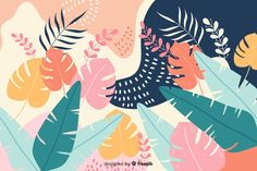 Discover thousands of free-copyright vectors on Freepik Illustration Plate, Illustration Botanique, Botanical Illustration, Posca Art, Hand Drawn Flowers, Backgrounds Free, Computer Wallpaper, Background Patterns, Vector Background
