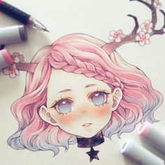 Manga Drawing Design Virgo ♍️ ______ Which zodiac would you like to see next? Copic Drawings, Kawaii Drawings, Cute Drawings, Anime Girl Drawings, Copic Marker Art, Copic Art, Anime Chibi, Manga Drawing, Manga Art