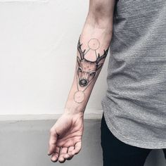 Stag tattoo by severovroma