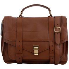 Proenza Schouler Totes ($1,645) ❤ liked on Polyvore featuring bags, handbags, tote bags, marrone, zip tote, retro purse, brown tote bag, retro handbags and zip tote bag