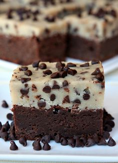 Cooking Pinterest: Chocolate Chip Cookie Dough Brownies Recipe
