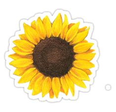 """sunflower "" Stickers by elizabethorrr 