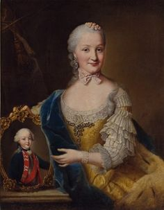 Friederike of Brandenburg-Schwedt, Duchess of Württemberg with Frederick I, ca. 1759 (Johann Georg Ziesenis) (1716-1777) Landesmuseum Württemberg