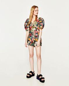 Billede 1 af SHORTS MED BLOMSTRET PRINT fra Zara
