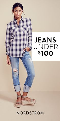 Roll the cuffs of your jeans, throw on a flannel and you're ready for the weekend!