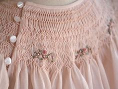 great button placement detail ... beautiful smocking