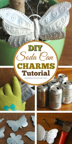 Turn old soda pop cans into decorative charms