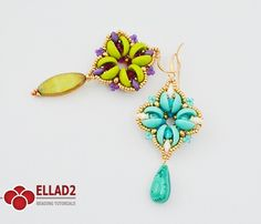Tutorial Libby Earrings - Beading Tutorials and Patterns by Ellad2