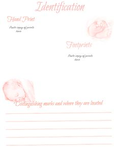 Let's Make A Baby Book Identification template  Free-download, pink, blue & black