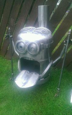 chiminea Gas bottle log burner despicable me minion dave 99p Start no Reserve | eBay