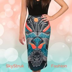 Abstract Stretchy Skirt OMG ! Totally amazing and unique! Abstract design colorful stretchy skirt . 90% polyester , 10% spandex La Pateau Skirts Pencil