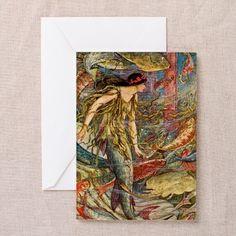Art Nouveau Mermaid Greeting Card on CafePress.com
