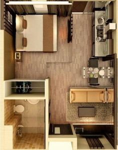 New apartment living room layout floor plans small spaces Ideas Studio Apartment Floor Plans, One Room Apartment, Studio Apartment Layout, Small Apartment Living, Tiny House Living, Apartment Interior, Small Apartments, Small Spaces, Living Room
