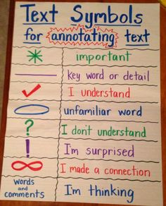 Symbols for annotating text