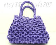 Purple Handmade Crocheted Bag-- Purse--Crochet Handbag--Ready To Ship