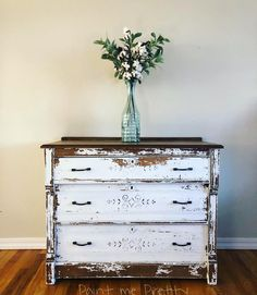 Perfectly shabby old chest.