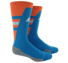 adidas Team Speed Traxion Crew (Large) - Solar Blue/Zest