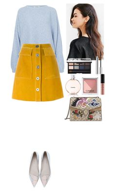 """Spring outfit"" by eliza-redkina ❤ liked on Polyvore featuring Rodebjer, M.i.h Jeans, Sophia Webster, Urban Outfitters, NARS Cosmetics, Clinique, Chanel, NYX, Gucci and StreetStyle"