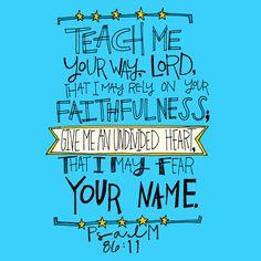 Psalm 86:11 | Year 27