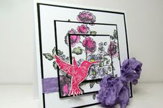 Splitcoaststampers - Tutorials  Stamp over several layers to create a dimensional image.