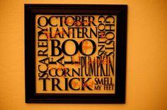 #Halloween: love this subway art.. must make when I get a silhouette machine!
