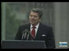 "Speeches that inspire: Reagan at the Brandenberg Gate, 1987: ""General Secretary Gorbachev, if you seek peace, if you seek prosperity for the Soviet Union and Eastern Europe, if you seek liberalization, come here to this gate. Mr. Gorbachev, open this gate. Mr. Gorbachev, tear down this wall!"""