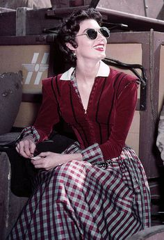 Ava Gardner on the set of Lone Star (1952)