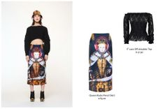 Complete the look with: QUEEN ROCKS PRINTED SKIRT $69.00 http://getthelooks.com.au/queen-rocks-printed-skirt on ebay: http://cgi.ebay.com.au/ws/eBayISAPI.dll?ViewItem&item=181309577399&ssPageName=STRK%3AMESE%3AIT ♡IT♡ LACE OFF-SHOULDER TOP IN BLACK Only $17.90.  http://getthelooks.com.au/it-lace-off-shoulder-top-in-black on ebay: http://cgi.ebay.com.au/ws/eBayISAPI.dll?ViewItem&item=171112099755&ssPageName=STRK%3AMESE%3AIT