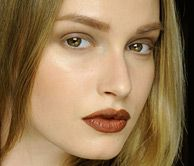 simple with focus on lips - makeup