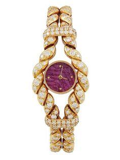 Fashion*Jewellery*Watches | RosamariaGFrangini || Bulgari 18K Yellow Gold & Diamond Watch, 25mm by Bulgari at Gilt