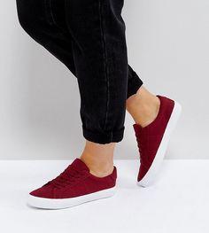 ASOS DEVLIN Lace Up Sneakers - Brown
