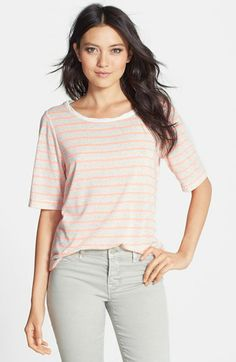 Ace Delivery Speckled Stripe Tee available at #Nordstrom
